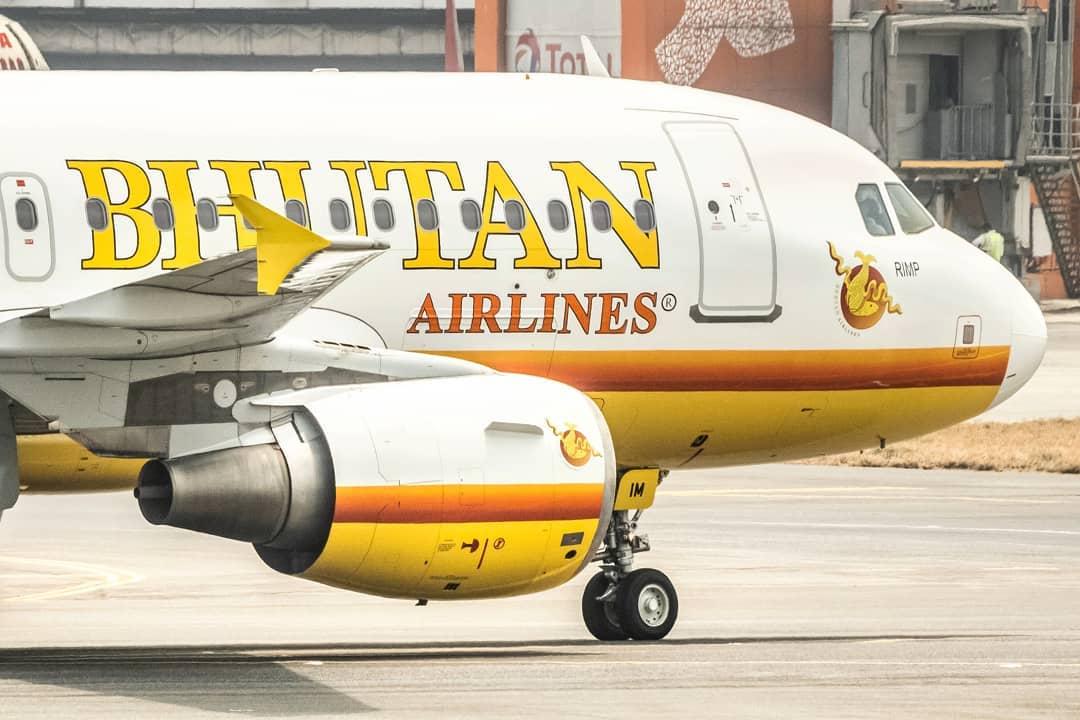 Avion appartenant à Bhutan Airlines